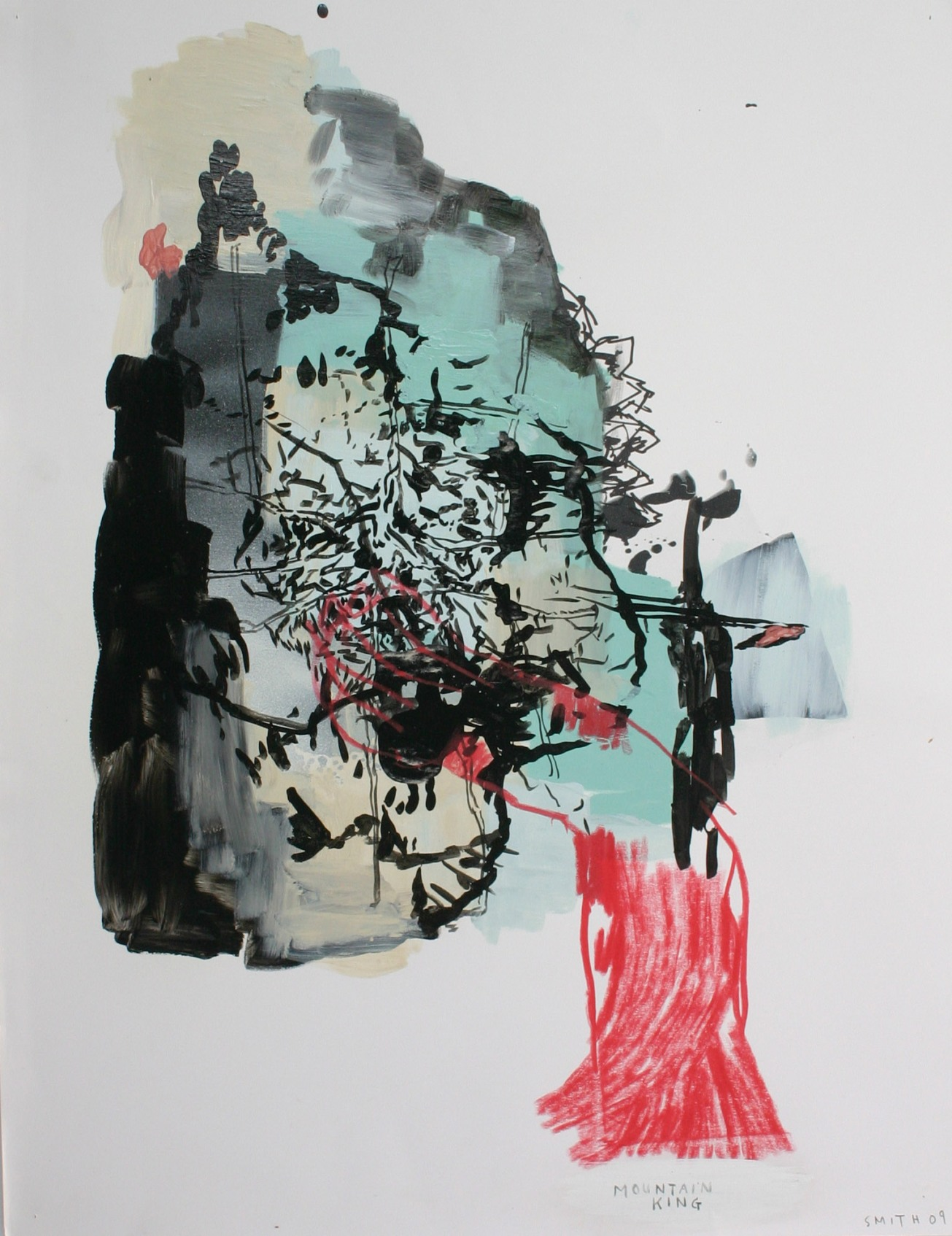 Emma Smith, The mountain king, Mixed media on paper, 420 x 594 mm 2010