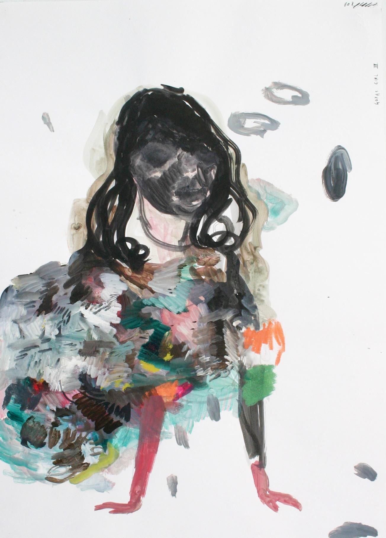 Emma Smith, Goya's girl, Mixed media on paper, 420 x 594 mm. 2009