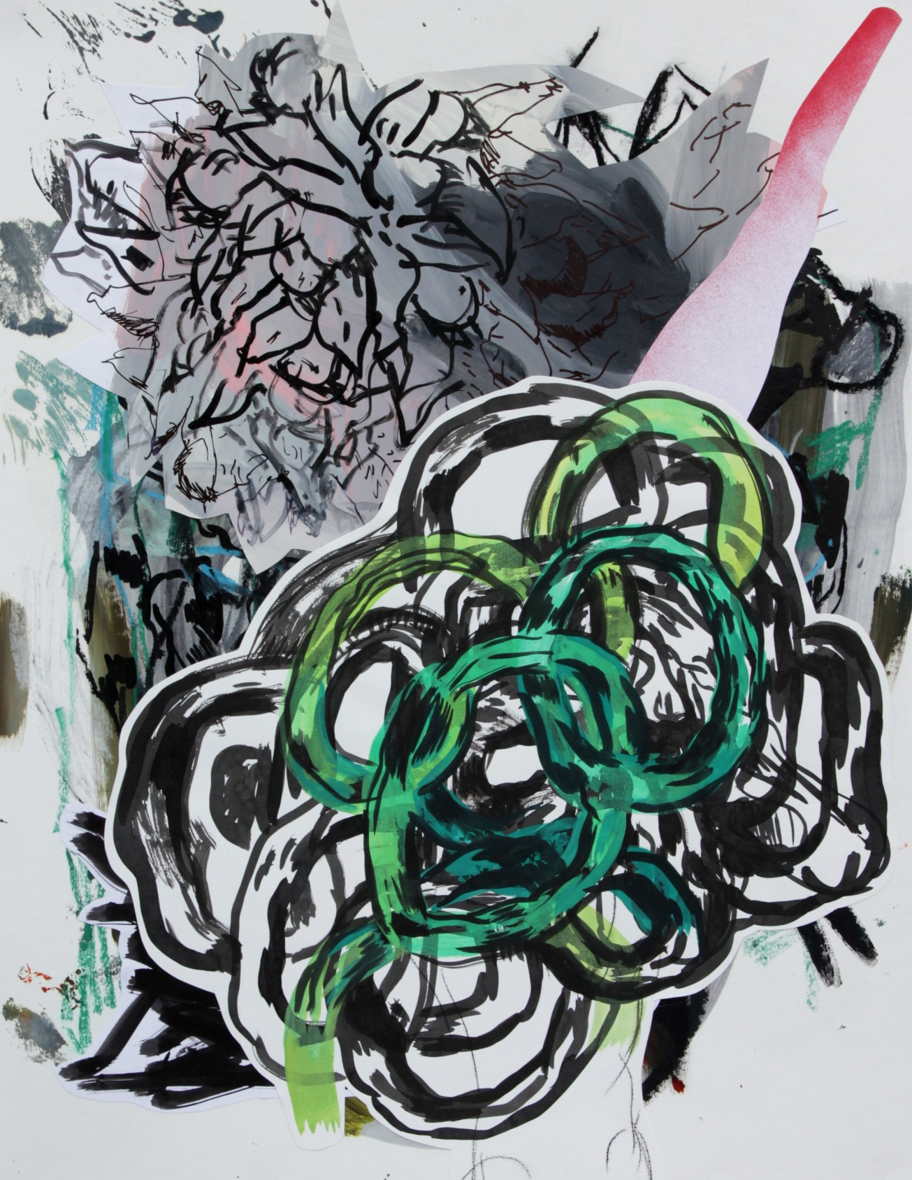 Emma Smith, Lotus we've changed your name , Mixed media on paper, 420 x 594 mm, 2010
