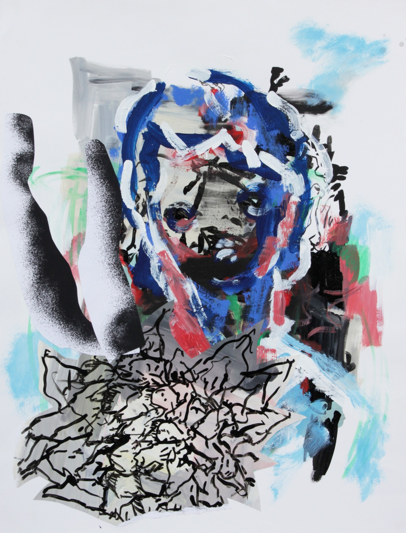 Emma Smith, The Song of Solder , Mixed media on paper, 420 x 594 mm, 2010