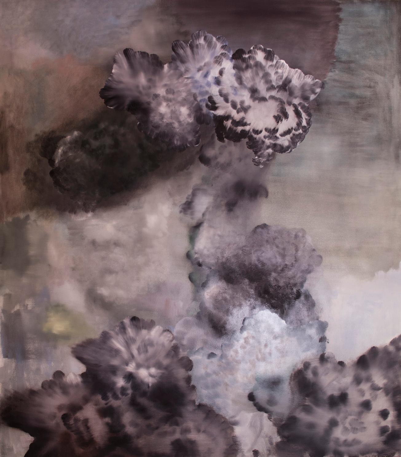 Cordite, Oil on canvas 1800x 1600mm, 2017